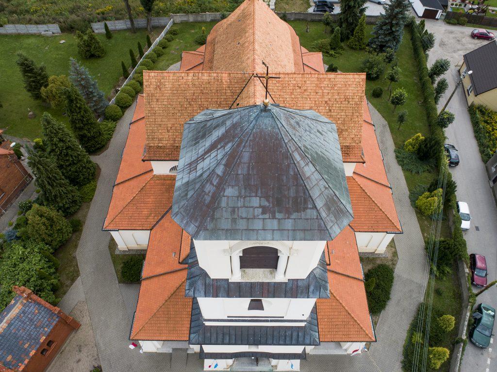 kościół z lotu ptaka śluby wesela